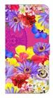 【iPhone7Plus/8Plus】 Hawaiian Flowers Garden ハワイアンフラワーズガーデン ー Fuchsia Pink フューシャピンク 手帳型スマホケース