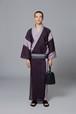 ゆかた / 綿麻縮 / 七三 / Purple(With tailoring)