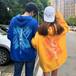 【トップス】韓国系フード付きプルオーバー長袖プリントパーカー23612950