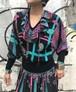Diane freis paisley & plaid knit tops (ダイアン フレイス ペイズリー & チェック ニット トップス)