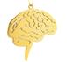 Brainネックレス 脳 カラー:ゴールド