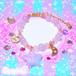 キラキラカルセドニーブレスレット♪(ピンク×パープル系)