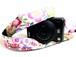 カメラストラップ 3㎝巾 ミラーレス&一眼レフカメラ用 片面 花柄デザイン 沖縄の花たち ピンク