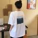 おしゃれ ラウンドネック 半袖 プリント ファンアート 韓国ファッション ゆったり Tシャツ・トップス