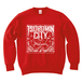 TSUBOMIN / BANDANA TSUBOMIN CITY CREWNECK SWEAT RED