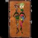 ウガンダ産 バーククロス(樹皮布)壁掛けアート ‐4 母子2組み