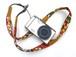 カメラストラップ 2㎝巾 コンパクトカメラ&携帯用 両面 花柄デザイン 石垣島の花たち 黄色