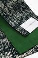 グラースオリジナル小袋帯/半巾帯 箔プリントデニム グリーンB