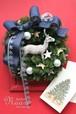 クリスマスリース トナカイとシラカバの星 cw15-5