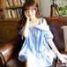 おしゃれ可愛い♡レディース ギンガムチェック 半袖シャツ  ブルー