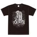 Tシャツ ブラック(2つの扉)