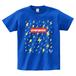 avenomix / THUNDER PATTERN LOGO T-SHIRT ROYAL-BLUE