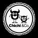 Chichi &Co. 丸ステッカー 100x100mmホワイト