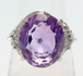 大粒アメシスト ダイヤリング 3.14ct 0.06ct プラチナ ~Large Amethyst Diamond 3.14ct 0.06ct Platinum~