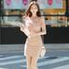 【dress】高級感 エレガントオシャレレース切り替え人気デザインデートワンピース
