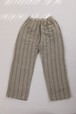 NR1563 ONE TUCK WIDE TROUSERS / COTTON LINEN STRIPE