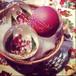 ピータープリース手工芸社 クリスマス ガラスオーナメント  サンタクロースB