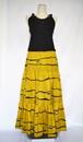 銘仙スカート:黄色・抽象柄/手洗い可・国内送料無料