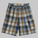 【ONLINE LIMITED EDITION】CC COTTON WIDE WORK SHORTS-PLANE CHECK