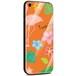 Jenny Desse iPhone 7 Plus / iPhone 8 Plus ケース カバー 背面強化ガラスケース  背面ガラスフィルム シリコンハイブリッドケース 対応 sim free 対応 トロピカル・オレンジ
