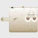 (iPhone)ペチュニアカプチーノバレリーナ 手帳型スマホケース