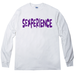 SEXPERIENCE white ロング袖リブTシャツ