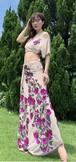 ベリーダンス夏新練習服女性のセクシーなスパンコールトップヒップスカーフセット東洋のインドダンスパフォーマンス衣装衣服