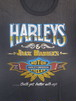 80's JACK DANIEL'S design Harley-Davidson T-Shirts(黒)