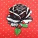 571 大きな薔薇の帯飾り(ノアール)