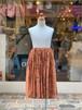 NEEDLE WORKS  Cat-print gather skirt(BROWN/90〜150cm)