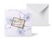 12種類のスクエアグリーティングカード 《Line Flowers Chalk blue ラインフラワー/チョーク・ブルー 》