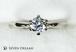 プラチナ婚約指輪 6ポイントスタンダードエンゲージリング