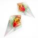 鋭角ピラミッドイヤリング(新緑と太陽)