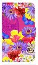 【鏡付き Sサイズ】Hawaiian Flowers Garden ハワイアンフラワーズガーデン ー Fuchsia Pink フューシャピンク 手帳型スマホケース