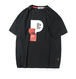送料無料メンズビッグサイズフロントPロゴ半袖Tシャツ2色