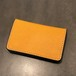 LEATHER CARD CASE(YELLOW × SILVER) / GERUGA