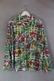 50's Print pattern Flannel Shirt