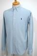 1990's Ralph Lauren コーデュロイボタンダウンシャツ 水色 実寸(S位) ラルフローレン