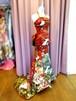 着物ドレス*赤~鶯色