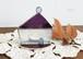 岩田けいこ*ステンドグラス 三角屋根の家(紫)