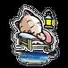 <アクリルフィギュア 70×70>おやすみーちゃん