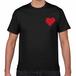 TONYBAND Tシャツ(黒) ロゴ赤2(小)