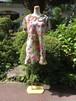 優雅な花模様のおしゃれなパリジェンヌ風ワンピース