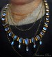 Arts & Crafts Blue Moonstone Necklace