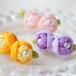 春色玉バラピアス つまみ細工花飾り TUMAMI シリーズ【定形外郵便 送料無料】