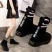 ソックススニーカー ハイカット 3.5cm 韓国ファッション レディース スニーカー ソックスシューズ フラットボトム スボーツ 歩きやすい カジュアル 577021335033