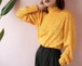 yellow high neck spring blouse