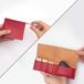 すおう染め革のキー&スマートキーケース【zlat/ずらっと】#横入れ大きめタイプ #草木染めレザー #手縫い #オリジナルの1文字刻印可