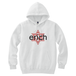 ERICH / HEXAGRAM LOGO HOODED SWEATSHIRT WHITE