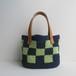 格子模様のバッグ(紺×緑)